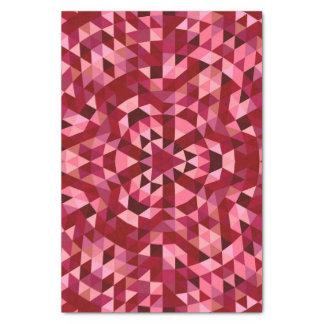 Maroon circular triangle pattern tissue paper