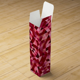 Maroon circular triangle pattern wine gift box