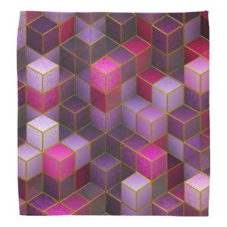 Maroon Cubes Bandana