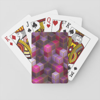 Maroon Cubes Playing Cards