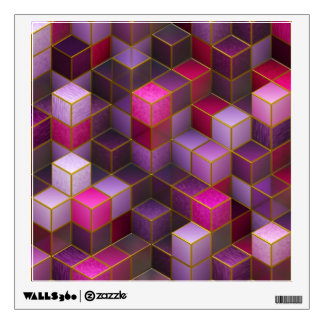 Maroon Cubes Wall Decal