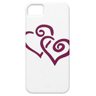 Maroon Double Heart iPhone 5 Case