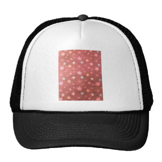 Maroon floral pattern hats