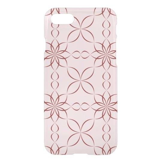 Maroon floral pattern iPhone 7 case