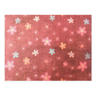 Maroon floral pattern postcard