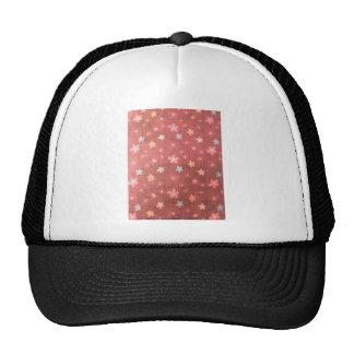 Maroon floral pattern trucker hat