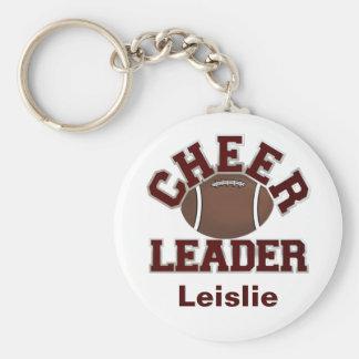 Maroon Football Cheerleader KeyChain