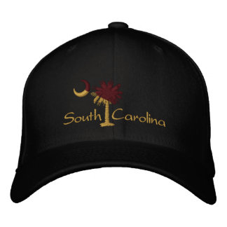 Maroon/Gold SC Dark Palmetto Moon Embroidered Hat
