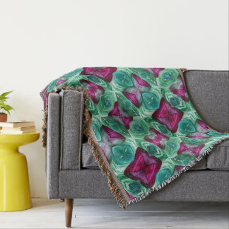 Maroon & Green Throw