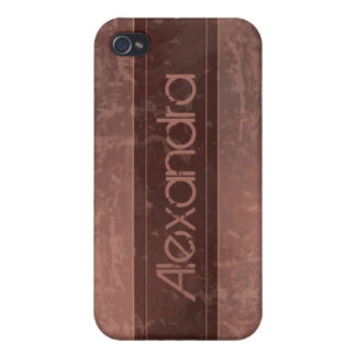 Maroon Grunge Marble Distressed iPhone 4 Cases