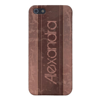 Maroon Grunge Marble Distressed iPhone 5 Covers