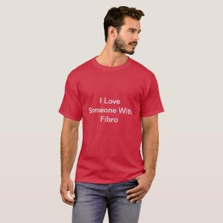 Maroon I Love Someone With FIbro TShirt for Men