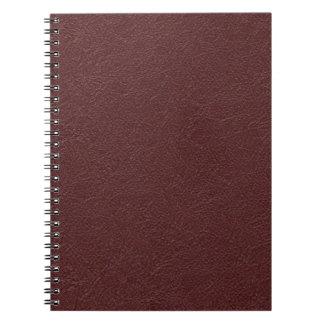 Maroon Leather Notebooks