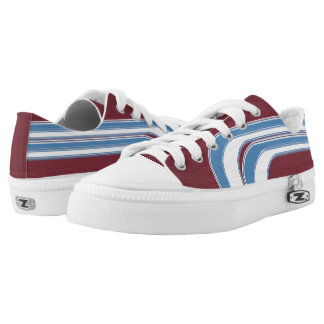 Maroon Light Blue and White Sojourn Max Low-Top Sneakers