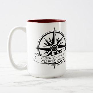 Maroon Long/Lat Mug