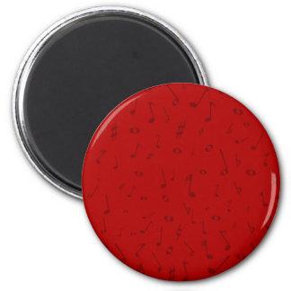 Maroon Music Background 2 Inch Round Magnet