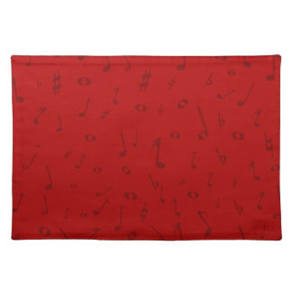 Maroon Music Background Placemat