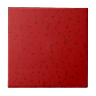 Maroon Music Background Tile