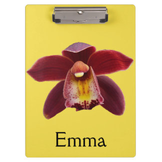 Maroon Orchids I Beautiful Red Floral Clipboard