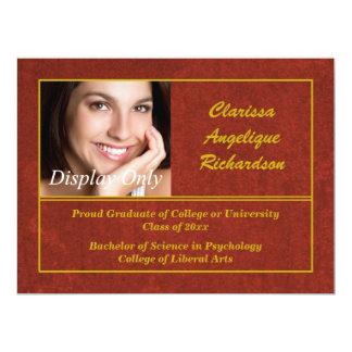 Maroon Photo Graduation Announcement and Invite