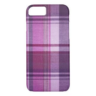 Maroon Plaid Fabric iPhone 8/7 Case