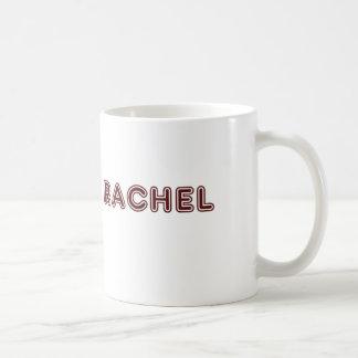 Maroon Rachel name Coffee Mug
