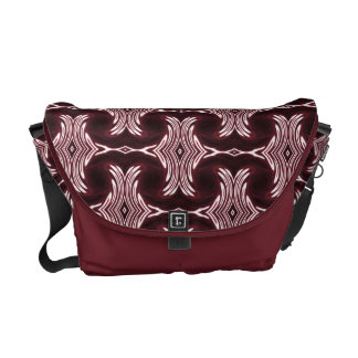 Maroon red art deco messenger bags
