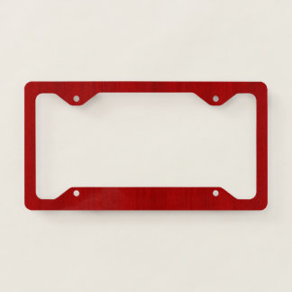 Maroon Red Bamboo Wood Grain Look License Plate Frame
