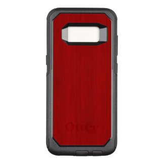 Maroon Red Bamboo Wood Grain Look OtterBox Commuter Samsung Galaxy S8 Case
