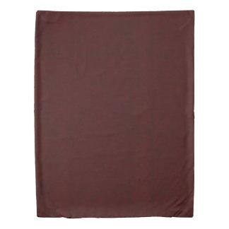 Maroon Red Color Velvet Look Dark Marsala Duvet Cover