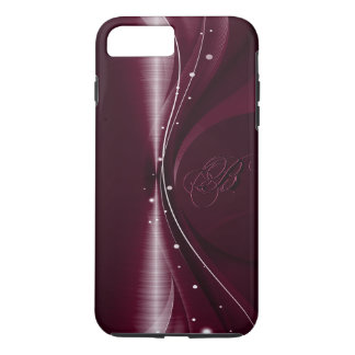 Maroon Red Metallic Retro Dynamic Wave iPhone 8 Plus/7 Plus Case