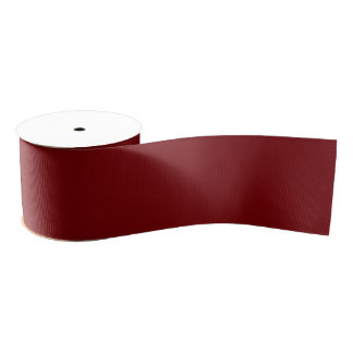 Maroon Red Solid Color Grosgrain Ribbon