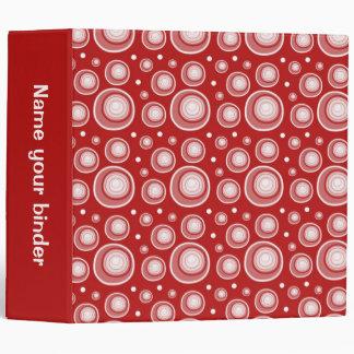 Maroon Retro Dots 2 inch Designer Binder