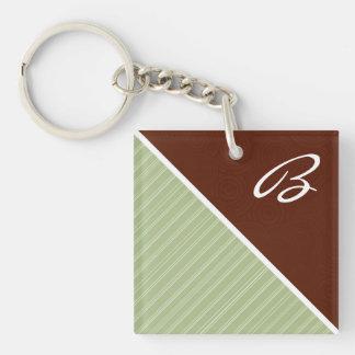 Maroon & Sage Green Acrylic Key Chains