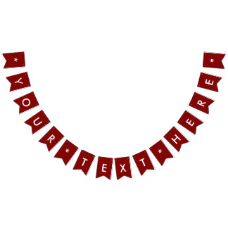 Maroon Solid Color Customize It Bunting Flags