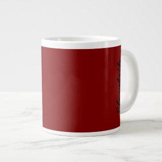 Maroon Solid Color Large Coffee Mug