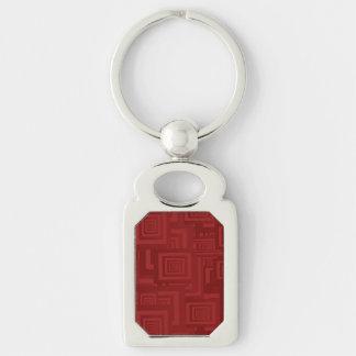 Maroon Squares Keychain