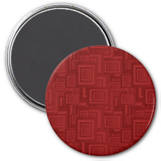 Maroon Squares Magnet