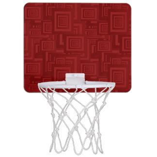 Maroon Squares Mini Basketball Hoop