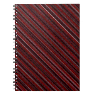 Maroon Stripe Notebook