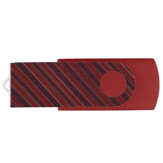 Maroon Stripe USB Flash Drive