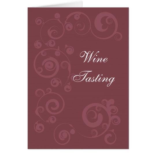 Maroon Swirls Card