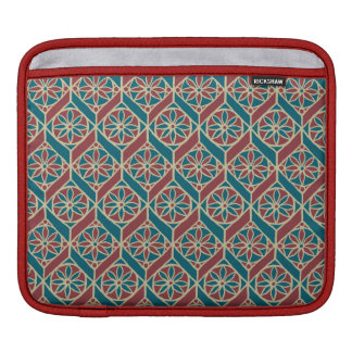 Maroon, Teal Ethnic Pattern, Flowers, Chevrons iPad Sleeve