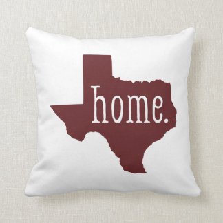 Maroon Texas State Home Throw Pillow