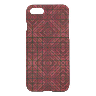 Maroon triangle mosaic iPhone 7 case