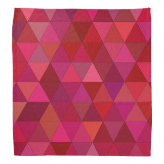 Maroon Triangles Bandana