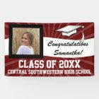 Maroon White Custom Photo Graduation Sign