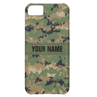 MarPat Digital Woodland Camo #2 Personalized iPhone 5C Case