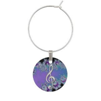 Marque - verre violet de clef triple d argent de f