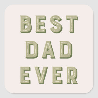 Marquee Father's Day Sticker - Moss